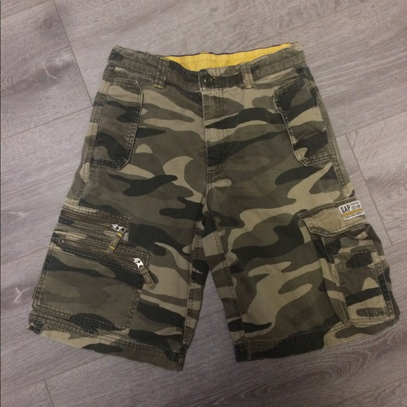 bcefaf7430 GAP Bottoms | Kids Camo Cargo Shorts Size 12 | Poshmark